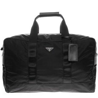 Prada Nylon and Saffiano Large Duffle Bag