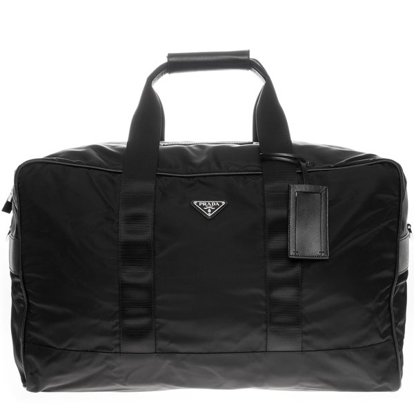 Prada Nylon and Saffiano Large Duffle Bag