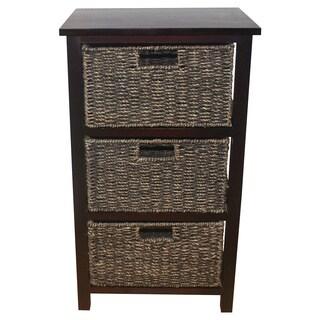 Seagrass Basket Storage Shelf