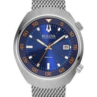 Bulova Accutron II Men's UHF Stainless Steel Mesh Bracelet Watch 44mm 96B232