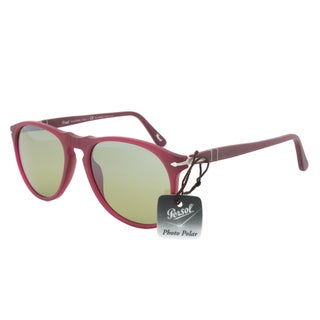 Persol PO9649S 9021/83 Polarized Sunglasses in Bordeaux Red Frame and Green Lenses