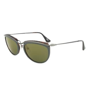 Persol PO3082S 1007/08 Sunglasses in Green and Matte Havana Frame and Green Mirror Gold Lenses