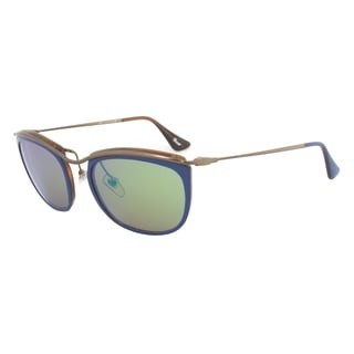 Persol PO3081S 1009/07 Sunglasses in Blue and Matte Havana Frame and Brown Mirror Gold Lenses