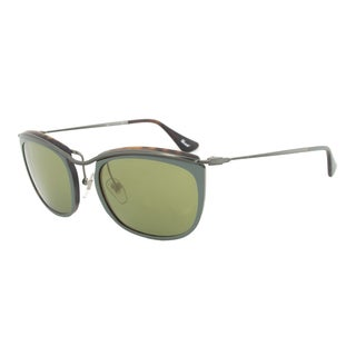 Persol PO3081S 1007/08 Sunglasses in Green and Matte Havana Frame and Green Mirror Gold Lenses