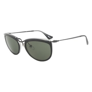 Persol PO3082S 1004/31 Sunglasses in Black and Matte Crystal Frame and Grey Lenses