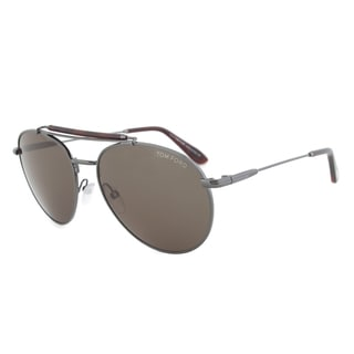 Tom Ford TF338 09N Colin Sunglasses with Gunmetal Frame and Green-Grey Lenses