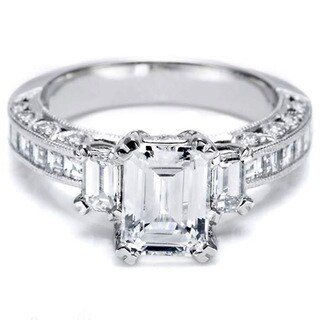 Tacori Platinum 3/4ct TDW Semi Mount Diamond Engagement Ring (G-H, VS1-VS2)
