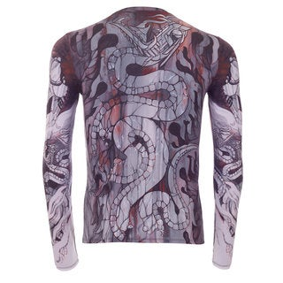 YellowMan Men's Bloody Stone Serpent High-Performance Tattoo T-Shirt