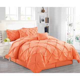 Fashion Street Arrora Pintuck 6-piece Comforter Set