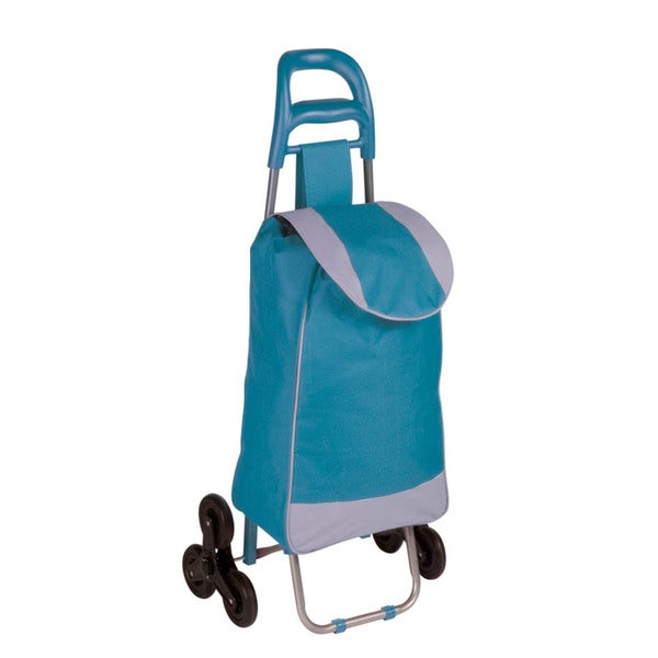 bag cart with tri-wheels, blue