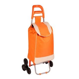 bag cart with tri-wheels, orange