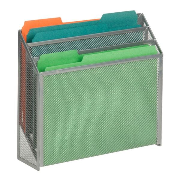vertical file sorter, silver