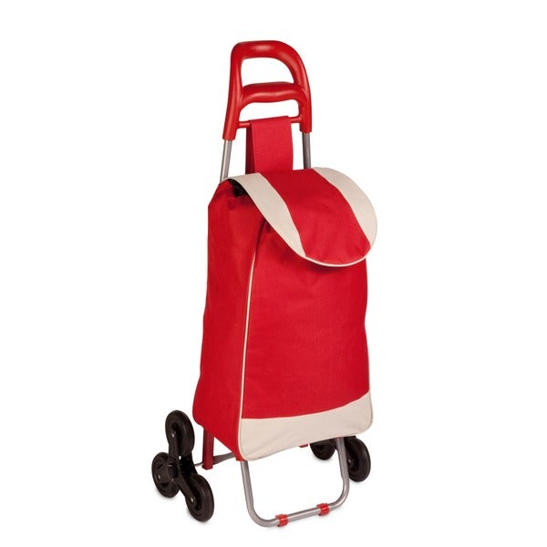 bag cart with tri-wheels, red