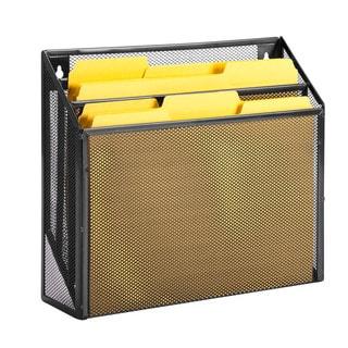 vertical file sorter, black