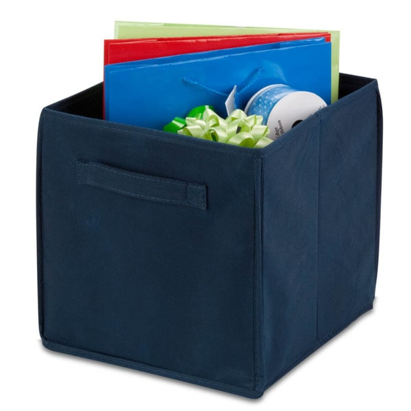 4-pack non-woven foldable cube- navy