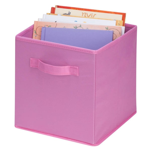 4-pack non-woven foldable cube- pink