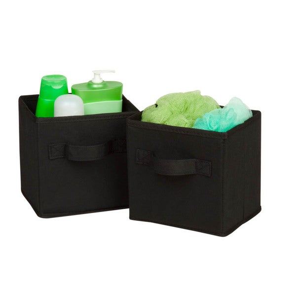 6-pack mini non-woven foldable cube- black