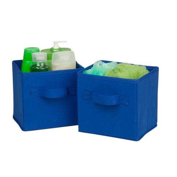 6-pack mini non-woven foldable cube- blue