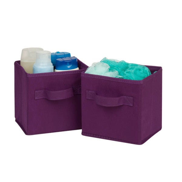 6-pack mini non-woven foldable cube- purple