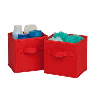 6-pack mini non-woven foldable cube- red