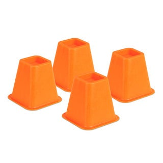 bed risers - orange set of 4