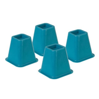 bed risers - blue set of 4