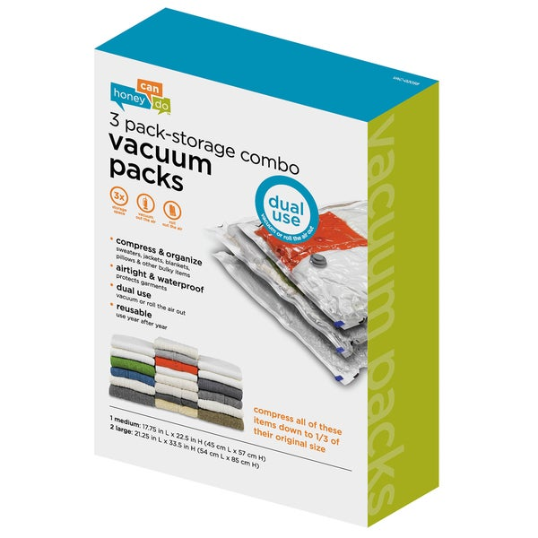 3-pack vacuum-packs (2 large, 1 medium)