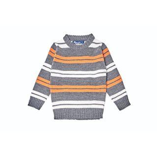 Kid's Striped Multicolor Pullover Sweater
