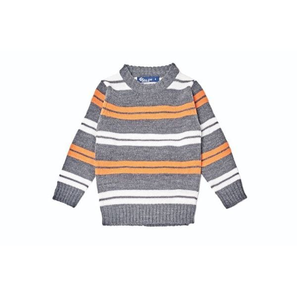 Kid's Striped Multicolor Pullover Sweater
