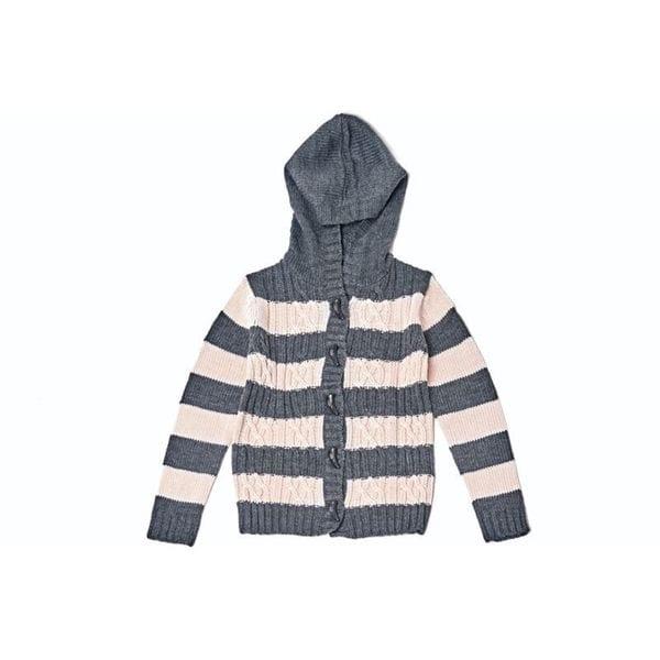 Striped Hoodie Sweater 24114-LPK