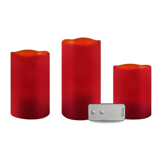 Apothecary & Company 3-Piece Candle Set with Remote - Cinnamon Scent