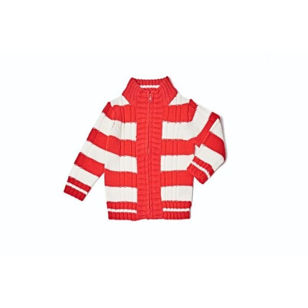 Kids Striped Hoodie Sweater 24108-RDWHT
