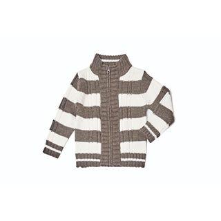 Girl's Striped Brown Sweater