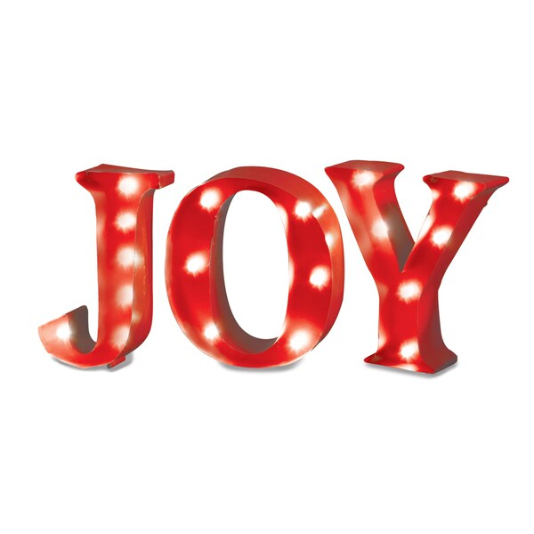 Apothecary & Company 4.5in. Metal Marquee Sign with LED JOY