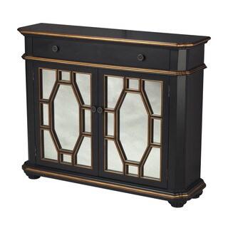 Presidio Black Mirrored Cabinet