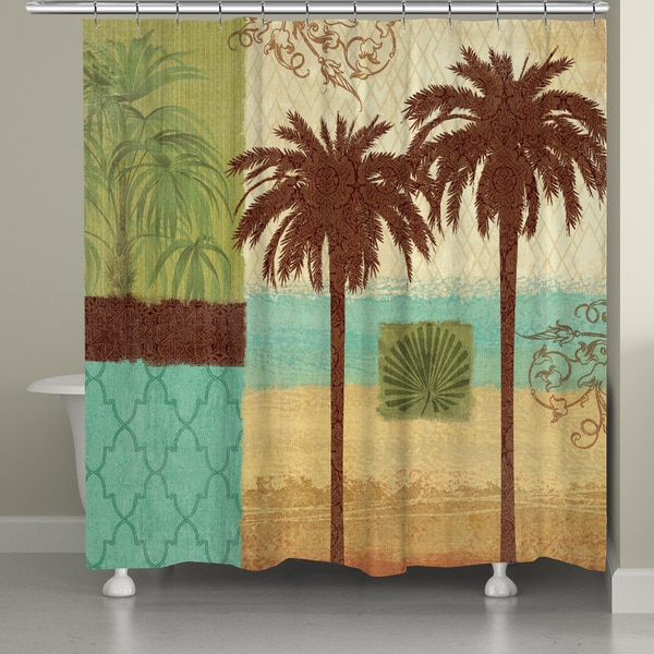 Laural Home Palm Tree Resort Shower Curtain (71-inch x 74-inch) 16473202