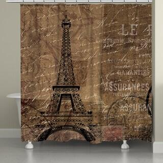 Laural Home Paris Adventure Shower Curtain (71-inch x 74-inch)
