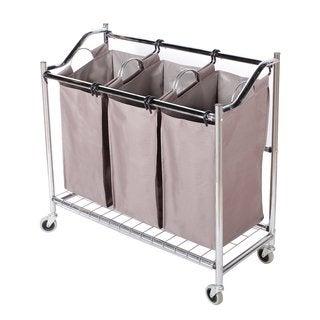 StorageManiac 3-Section Heavy Duty Laundry Hamper Sorter