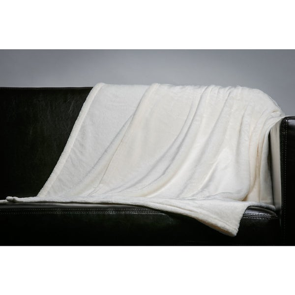 Home Fleece Throw Blanket (50-inch x 60-inch)