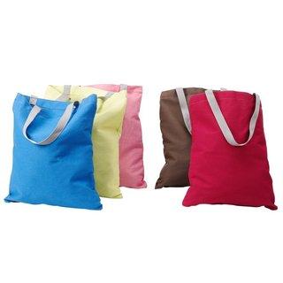 StorageManiac 5-Pack Canvas Reusable Tote Bags