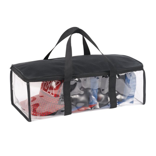 StorageManiac Durable See-through Storage Bag with Wrap-around Zipper for Hats and Accessories with Two Carry Handles