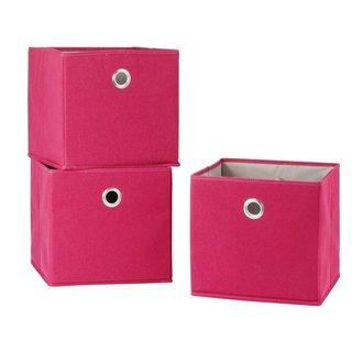 StorageManiac Folding Canvas Storage Bin Open Storage Basket with Built-in Grommet Handles Pack of 3