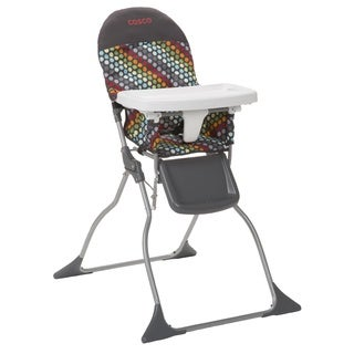 Cosco Simple Fold High Chair in Rainbow Dots