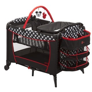 Disney Sweet Wonder Mickey Silhouette Red Plastic Play Yard