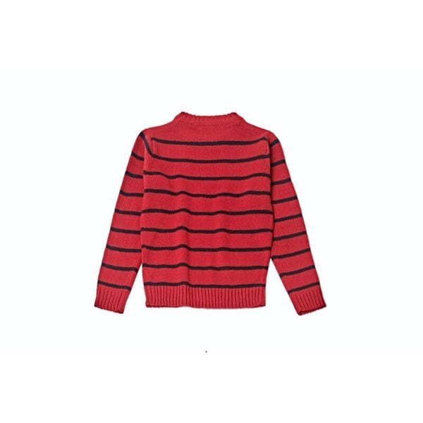 Striped Sweater 1044-Red