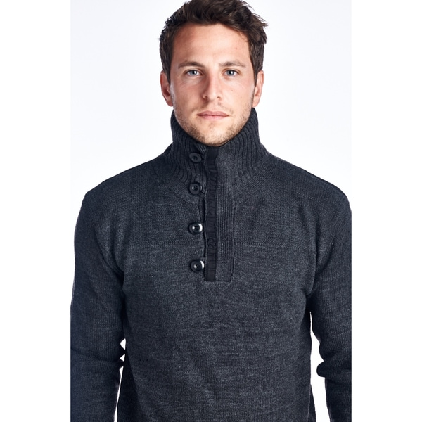 Mens Turtle Neck Sweaters 26690-CHARCOAL