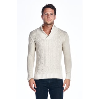 Men's Shawl-Collar Knitted Sweater