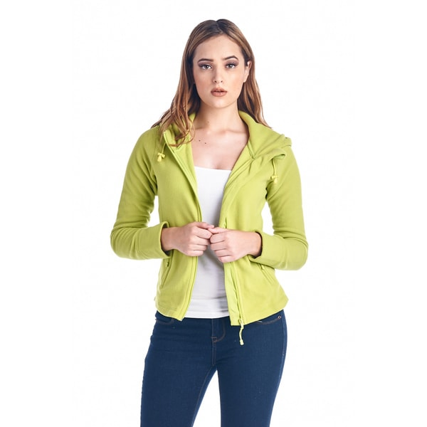 Women's Fleece Full Zip Jacket 20194-LIME