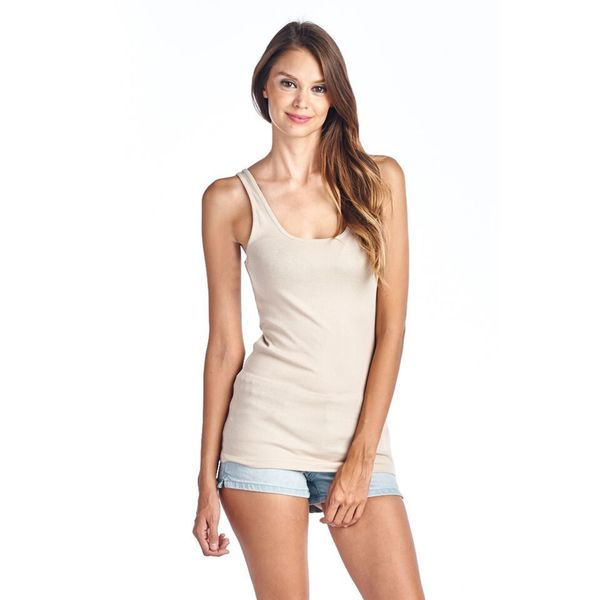 Women's Essentials Beige Tank Top