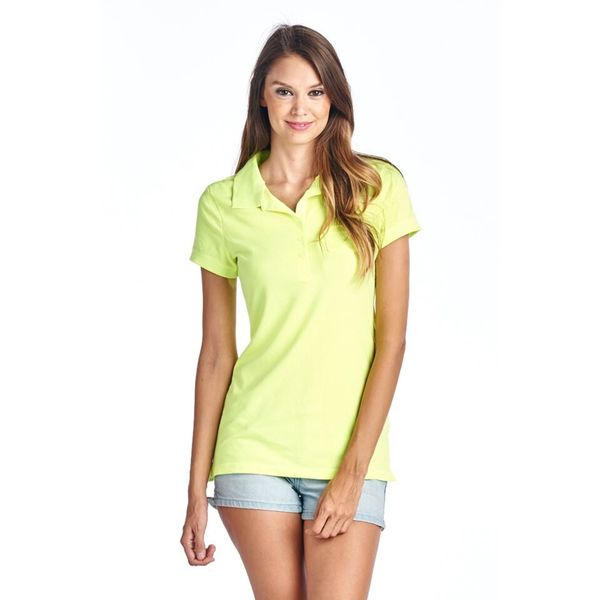 Women's Neon Polo T-Shirt